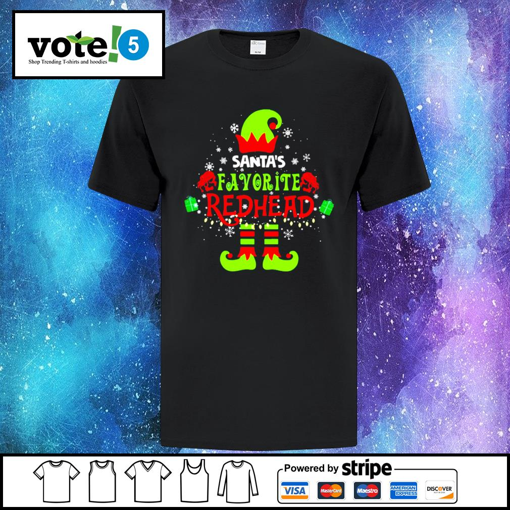 ELF Santa's favorite redhead Christmas shirt, sweater